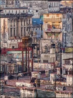 Roofscape photo of Old Havana Cuba by Rain Bengis